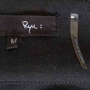 Ryu Jackets & Coats - RYU crinkle coated shine jacket drawstring M